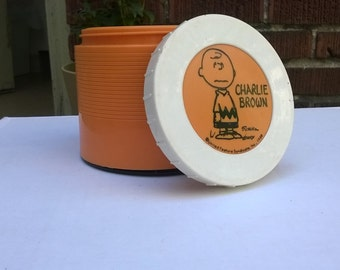 Charlie Brown Retro Orange Thermos from 1970s