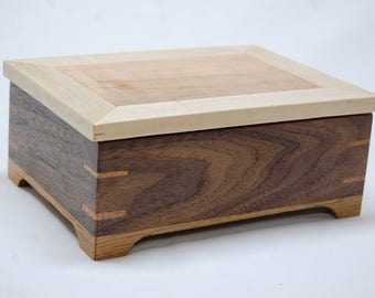 Ring-Jewelry Box -  Black Walnut, White Oak, Black Cherry, Maple