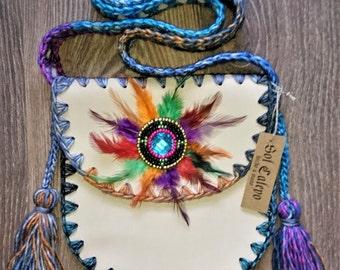 Shoulder bag skin made by hand