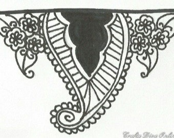 Hand Drawn Zentangle Nail Decals