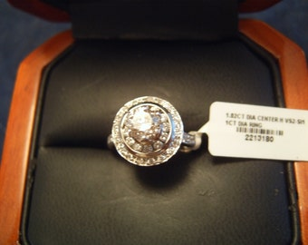 Ladies diamond ring  1.8 carats