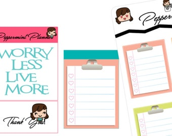 Light Color Clipboards Planner Stickers, Size 1.5 x 1.9 {#205}