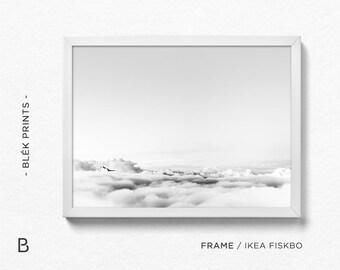 Clouds Print, Sky Art, Cloud Photography, Clouds Art, Clouds Wall Decor, Black and White Sky, Nature Art, Landscape Print, Contemporary Art