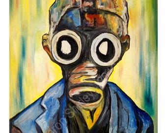 Doctor Who Art, Doctor Who Print, Gas Mask Art, Geek Art, Art Print, Empty Child Doctor Who