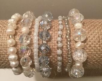 Beautiful bracelets set.Fashion and chic.
