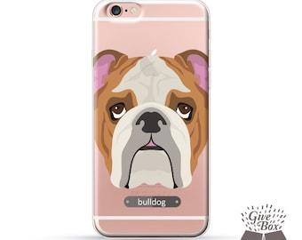iPhone 7 case, iPhone 7 Plus case, Rubber iPhone case, Clear Samsung Galaxy case, iPhone 6 case, iPhone 6s case, S7 case, puppy bulldog