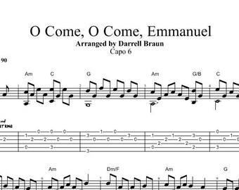 O Come, O Come, Emmanuel - Fingerstyle Guitar!