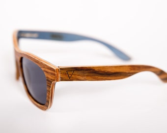 Zenvy Natural Wood Sunglasses - Wayfarer Style with Polarized Lenses and they float!