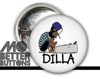1 inch J Dilla Button Donuts Shining Jay Dee SV Hip-Hop super producer