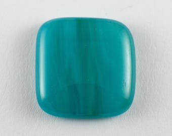 Stained Glass Cabochon - Blue Green