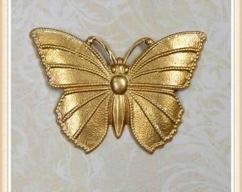 12 pieces raw brass butterfly, stampings, embellishments E157