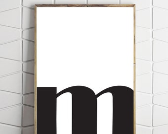 Letter M Wall Decor letter m poster | etsy