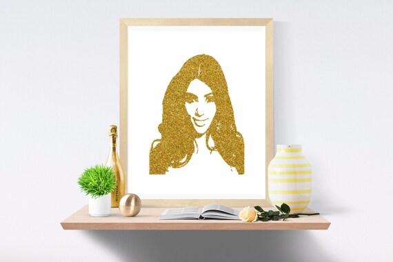 Kim Kardashian, Kanye West, Kardashian, Snake Skin, Gold Print, Gold Prints, White Print, White Prints, Wall Art, Art Print, Printable Art