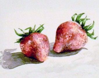 Juicy Strawberries (print)