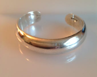 925 Sterling Mexico Cuff Bracelet, Sterling Silver Cuff, Sterling Bracelet
