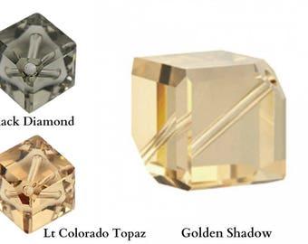 Swarovski 5600 Diagonal Cube Beads 8mm Pick You Colour