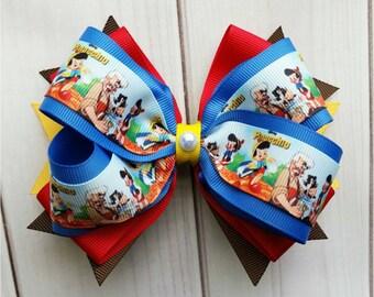 Pinocchio Hair Bow/Pinocchio Hair Clip/Pinocchio Barrette/Disney Hair Bow/Character Hair Bow/Cartoon Hair Bow/Party Hair Bow/Disney Barrette