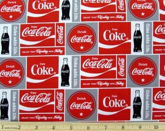 Coca Cola Coke Block Fabric From Sykel