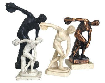 Collection of Discobolus Sculptures - Set of 4