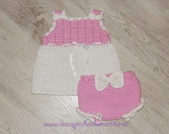 """Manuela"" handmade crochet set"