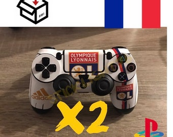 Skin stickers controller ol Olympic Lyon ps4 controller led light bar controller
