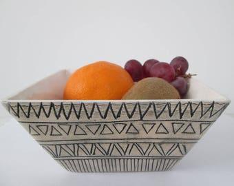 aztec bowl, ceramic bowl, ethnic ceramic bowl, handmade pottery, ceramic bowl on snacks or sweets, decorative bowl, modern ceramic bowl