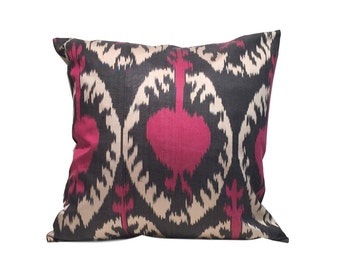 Pink Ikat Cushion Pillow Cover, 45 x 45 cm