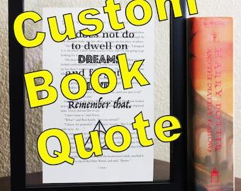 Custom book quote