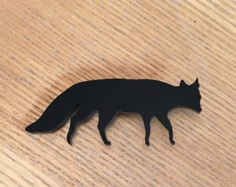Black Fox Brooch