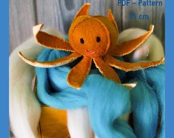 Octopus - Easy PDF Sewing Pattern/Soft Toys/Toy animal/Octopus softie/