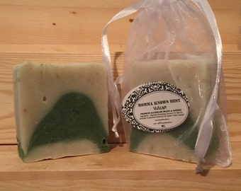FREE SHIPPING USA - Vulcan Hand Made Soap - Cold Process Soap - Lavender Soap - Spearmint Soap