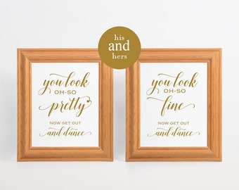 Bathroom Signs Wedding printable wedding bathroom signs 8x10 wedding reception