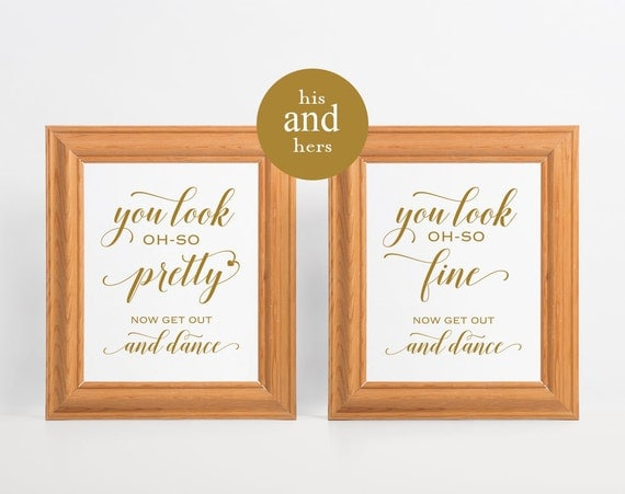 Good Gold Wedding Bathroom Signs, Menu0027s Bathroom Sign, His And Hers Bathroom  Signs, Wedding Sign, Look Oh So, Womens And Mens Restroom, WPC_318