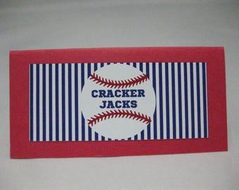 Baseball Themed Place Cards - Baseball Food Cards - Baseball Place Cards - Baseball Decor - Place Cards - Folded Place Cards - Set of 12