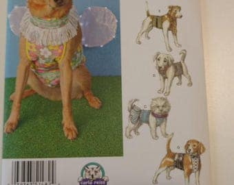 Simplicity Pattern 1482 Dog Clothes Costumes Tuxedo Dress Tie Wings Hat