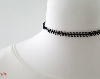 Choker necklace Choker vintage metal black