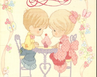 Precious Moments Our Freindship is Soda Licious PM42 Cross Stitch Book designs by Gloria and Pat