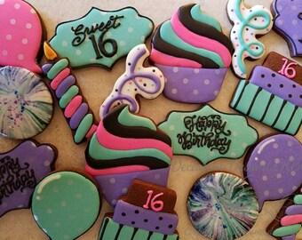 One dozen Sweet 16 Cookies