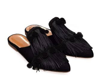 Emma-Women Leather Mules
