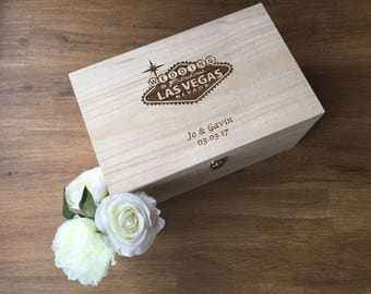 Las Vegas Wedding memory box