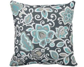 Awesome Outdoor Throw Pillow Cover  Outdoor Decorative Pillow   Aqua Outdoor Pillow    Teal Outdoor Pillow