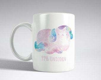 99% Unicorn Mug /Cat Unicorn Mug Colorful Mug For Her Unicorn Mug Cat Mug Coffe Mug Tea Mug Unicorns Mug Funny Unicorn Mug
