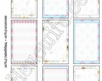 Happy Planner stickers [241] , Full box, A5 PDF, Instant download