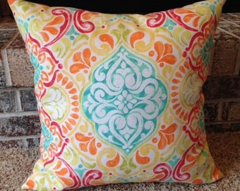 "18"" x 18"" Throw Pillow Cover, Great Spring Colors"