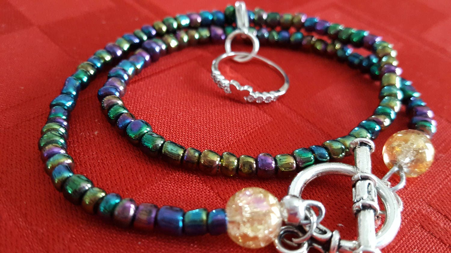 Necklace With Friendship Ring Charm