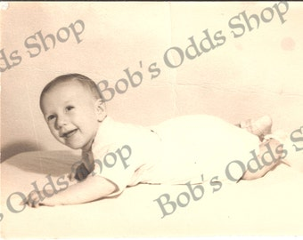 Instant Download Baby Picture, 1940's, Vintage Photo