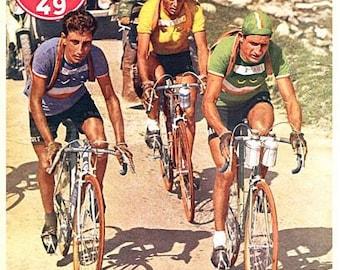 Vintage 1949 Tour de France Cycling Poster A3 Print