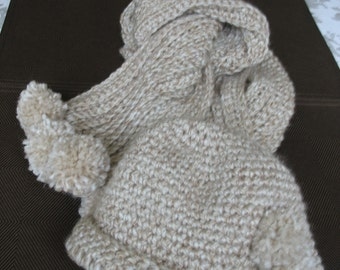 Deliciously warm 5ft. long scarf and adult hat set.