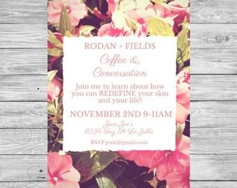 Rodan + Fields Invitation - Coffee & Conversations invite - Big Business Launch invitation - BBL -Rodan and Fields event -printable -digital