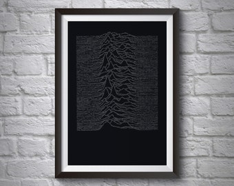 FAC10 Binary, Joy Division Poster
